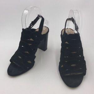 Via Spiga Galore Cut Out Block Heeled Sandals • 7